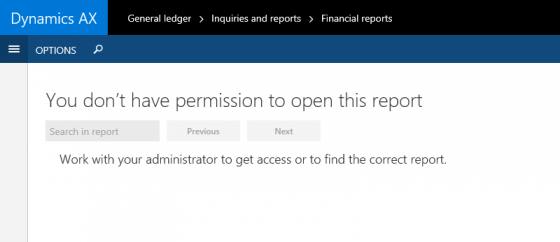 Permission error in Management Reporter