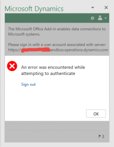 How to solve Microsoft Office Add-in authentication error in
