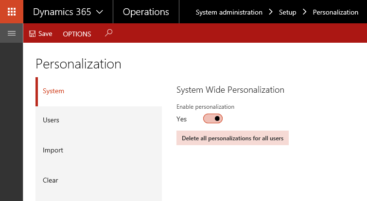 Manage personalizations